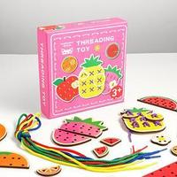 Развивающая игра шнуровка 'Ягоды и фрукты' 20х20х4,5 см