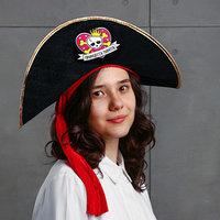 Шляпа пиратская 'Принцесса пиратов', детская, фетр, р-р. 52-54