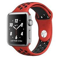 Ремешок Krutoff Silicone Sport, для Apple Watch, 42/44 мм, красно-черный