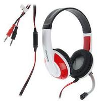 Наушники Defender Warhead G-120, игровые, полноразмерные, микрофон, 3.5мм, 2 м,черно-красные