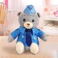 Мягкая игрушка 'Медвежонок Лаппи -полицейский', 22 см
