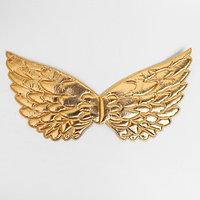 Карнавальные крылья 'Ангелочек', для детей, цвет золотой