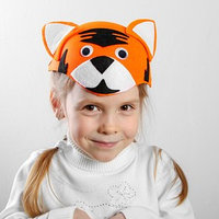 Карнавальная шляпа 'Тигр', на резинке, р-р. 52-54