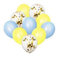Букет из шаров 'Нежность', латекс, с конфетти, набор 10 шт.