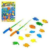 Рыбалка 'Крупные рыбки' 12 рыбок, 2 удочки