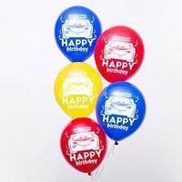 Воздушные шары 'С Днем Рождения', Тачки, (набор 25 шт)