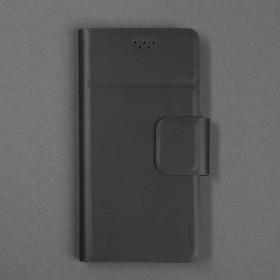 Чехол-книжка для телефона Maverick Slimcase, универсальный, 5-5.2', чёрный - фото 1