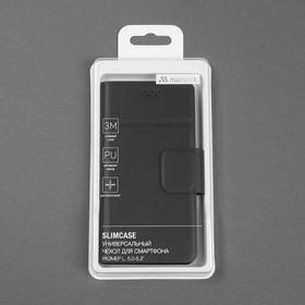 Чехол-книжка для телефона Maverick Slimcase, универсальный, 5-5.2', чёрный - фото 4