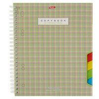 Тетрадь 120 листов клетка на гребне, с разделителями 'Шотландка', картонная обложка