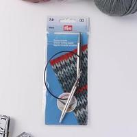 Спицы для вязания, круговые, с пластиковой леской, d 7 мм, 40 см
