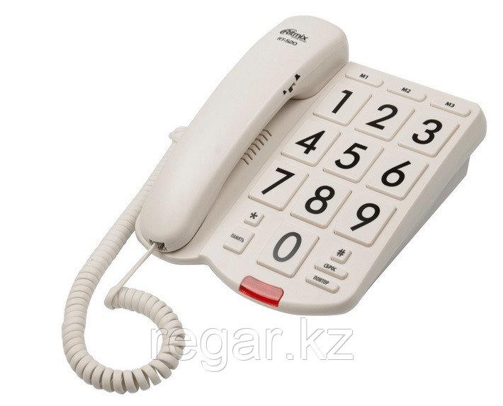 Телефон проводной Ritmix RT-520 слоновая кость