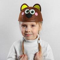 Карнавальная шляпа детская 'Мишка', р-р. 52-54