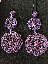 Серьги фиолет