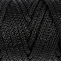 Шнур для рукоделия полиэфирный 'Софтино' 4 мм, 50м/110гр (чёрный)