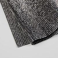 Стразы термоклеевые на листе, 40 x 24 см, цвет графитовый