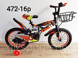 Велосипед Phillips с амортизатором оранжевый оригинал детский с холостым ходом 16 размер