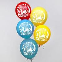 Шар воздушный 'С днем рождения' Человек Паук (набор 25 шт) 12 дюйм