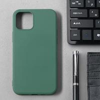 Чехол Activ Full Original Design, для Apple iPhone 12/12 Pro, силиконовый, тёмно-зелёный