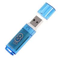 Флешка Smartbuy Glossy series Blue, 8 Гб, USB2.0, чт до 25 Мб/с, зап до 15 Мб/с
