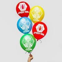 Воздушные шары, набор 'Spider Man, Happy Birthday', Marvel (набор 25 шт)