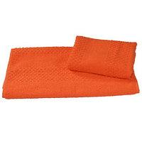 Полотенце махровое гладкокрашеное 40x70 см 360 г/м2, оранжевый, 100 хлопок