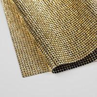 Стразы термоклеевые на листе, 40 x 24 см, цвет золотой