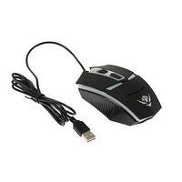 Мышь Nakatomi MOG-02U Gaming, игровая, проводная, подсветка, 1600 dpi, USB, чёрная