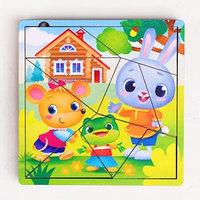 Пазл разрезной 'Сказки для малышей', 3 картинки в раме