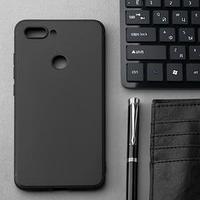 Чехол Innovation, для Xiaomi Mi 8 Lite, силиконовый, матовый, черный