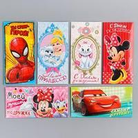 Набор конвертов для денег 'Disney', 6 шт, МИКС