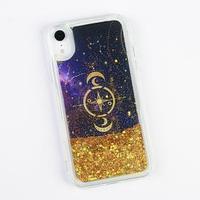 Чехол для телефона iPhone XR с блёстками внутри Stars, 7.6 x 15.1 см