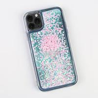 Чехол для телефона iPhone 11 PRO с блёстками внутри Flower, 7.14 x 14.4 см