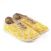 Кеды женские, цвет жёлтый, размер 38