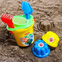 Набор для игры в песке ведро, сетка, лопата, грабли, 2 формочки, ФИКСИКИ цвет МИКС, 530 мл