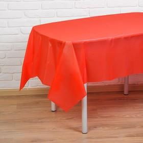 Скатерть 'Праздничный стол', 137х183, цвет красный - фото 1