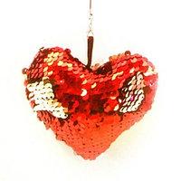 Набор для создания подвески из ткани 'Сердечко', с пайетками