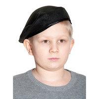 Берет карнавальный, детский р-р 52-54, цвет чёрный