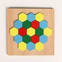 Головоломка 'Строй фигуры и узоры', шестиугольники