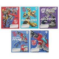 Тетрадь 24 листа в клетку Transformers, обложка мелованный картон, УФ-лак, блок офсет, МИКС (комплект из 20