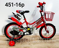 Велосипед Phillips красный оригинал детский с холостым ходом 16 размер