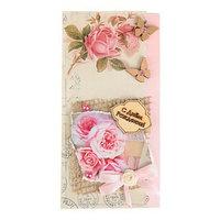 Конверт для денег 'С Днём Рождения!' ручная работа, розовые розы