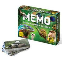 Настольная игра 'Мемо. Удивительные животные', 50 карточек познавательная брошюра