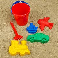 Набор для игры в песке 110 ведёрко, 4 формочки для песка, грабельки