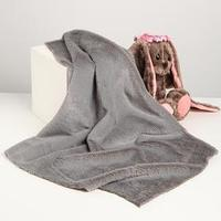 Лоскут для рукоделия, 50х50 см, мех, цвет светло-серый