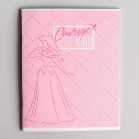 Тетрадь 48 листов в клетку, картонная обложка, Принцессы - фото 1