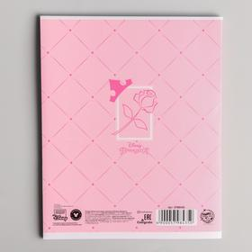 Тетрадь 48 листов в клетку, картонная обложка, Принцессы - фото 3