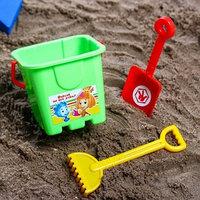 Набор для игры в песке ведро-крепость, лопата, грабли,ФИКСИКИ цвет МИКС, 530 мл