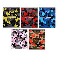 Тетрадь 48 листов в клетку 'Цветной камуфляж', обложка мелованный картон, блок офсет, МИКС (комплект из 5 шт.)