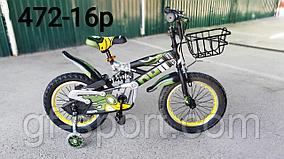 Велосипед Phillips с амортизатором хаки оригинал детский с холостым ходом 16 размер