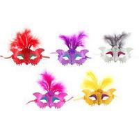 Карнавальная маска 'Экзотика', с перьями, цвета МИКС